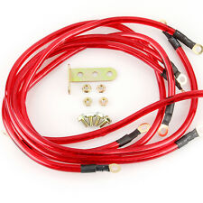 5x Universal Car/Truck/SUV Red Ground/Grounding Wire Cable Earth System Kit