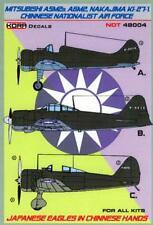 KORA Decals 1/48 NAKAJIMA Ki-27b MITSUBISHI A5M2 & A6M2 Chinese Air Force