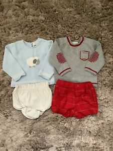 MAYORAL BABY BOYS 3-6 MONTHS OUTFITS, BUNDLE, SHORTS, JUMPERS COMBINE POST
