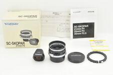 *MINT in BOX* Voigtlander SC SKOPAR 21mm f/4 w/ Viewfinder from Japan #4112