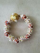 Beaded Stretch Bracelet New Lilah Ann Beads With Over 100 Crystals