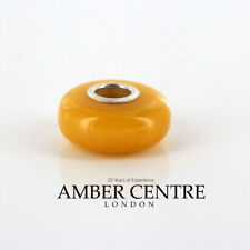 Antique German Baltic Amber– fits all European charms bracelets  CHA17 RRP£60!!!