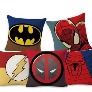 Square Super Hero Cushion Cover Pillow Cover Seat Sofa Embrace Pillow Case Home