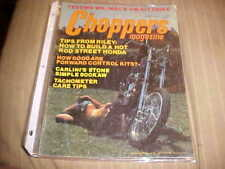 CHOPPERS Magazine august 1975,harley,triumph,honda choppers,springers,bobber