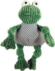 HuggleHounds Knotties plush Squeaker Cute FROG TUFFUT toy NEW Large
