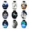 New 3D Print White Horse Animal Women Men Hoodies Pullover Plus Size Sweatshirts
