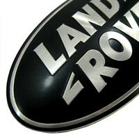Genuine Land Rover Discovery 3 BLACK+SILVER front grlle oval badge grill LRB365