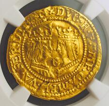 1593, Netherlands, Kampen, Catholic Monarchs. Gold Ducat Coin. NGC AU+