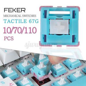FEKER 110Pcs 3 Pin 67g Holy Panda Mechanical Keyboard Switch Tactile Salmon