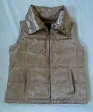 Talbot Womens Gold Down Puffer Vest Size X- Lot H85