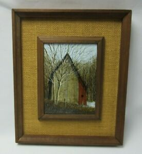 Vtg Charles L Sizemore Acrylic on Board Painting Farmhouse Barn Landscape