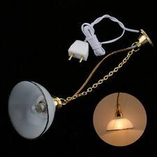 IG_ 12V LED 1/12 Doll Miniature Pendant Lamp Ceiling Light Furniture Accessory S