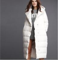 Women's Hooded Coat Long Jacket Warm Duck Down Parka New Outwear Plus Size R677