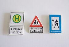 PLAYMOBIL (Q1264) CHANTIER - Lot E de 3 Panneaux de Signalisation Vintage