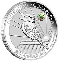 2020 ANDA Show Special 30th Ann. Kookaburra 1oz $1 Silver Coin w/ Paw Privy