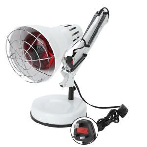 Infrared Floor Desk Stand Heat Lamp Health Pain Relief Therapy 150W White UK