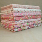 7pcs/Set Pink Floral Pattern Patchwork Quilting Sewing Cloths Cotton Fabric