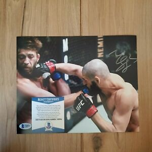 Khamzat Chimaev UFC Signed 8x10 Photo COA BAS Beckett #T40934 Autographed