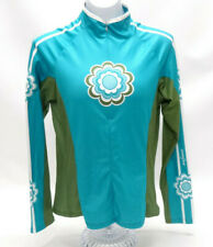 SHE BEEST TURQUOISE LS CYCLING JERSEY -  WOMENS MEDIUM - EUC