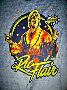 WWE WWF Men's T-SHIRT Legends RIC FLAIR RETRO Nature Boy NEW WITH TAGS