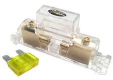 Stinger Pro MAXI 4 or 8 Gauge Gold Inline Fuse Holder Fuseholder w/ 20 Amp Fuse