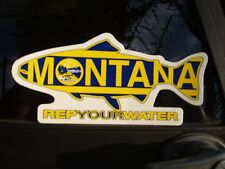 Montana Flag Fly Fishing Trout Decal