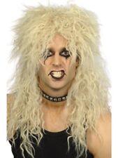 Años 70 80 Glam Rocker Rubio Largo Estrella de Rock Peluca para Disfraz Smiffys