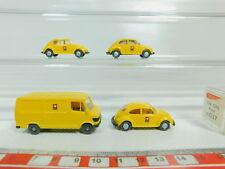 BO524-0,5 #4x Wiking H0 / 1:87 Ptt Post Modell : MB + 037 VW Coccinelle,Très
