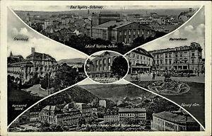 Bad Teplitz Schönau Teplice frankierte AK 1938 Herrenhaus Steinbad Stadt Theater