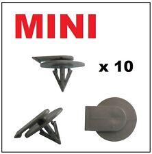 10 x bmw mini cooper plastique fixations roue arch trim clips côté sill jupe