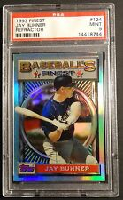 1993 93 JAY BUHNER TOPPS FINEST REFRACTOR #124  MARINERS PSA 9 POP 59   (805)