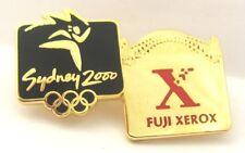 FUJI XEROX BRIDGE LOGO GOLD SYDNEY OLYMPIC GAMES 2000 PIN BADGE COLLECT #87