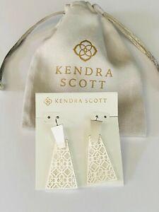 Kendra Scott Earrings Silver Tone Free Shipping
