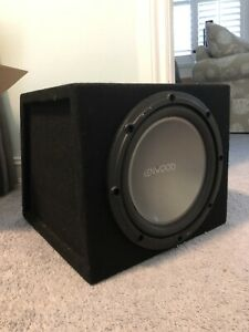 """Kenwood KFC-W2512 1000W 100"""" Single-Voice-Coil 4-Ohm Subwoofer In Enclosure"""