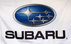 Subaru White Premium Flag 3' x 5' Indoor Outdoor Automotive Banner (USA Seller)