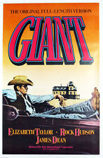 "GIANT Vintage movie poster CANVAS ART PRINT16""X 12"" James Dean Elizabeth Taylor"