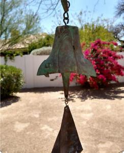 Genuine Hand Cast  LARGER  MCM SOLERI Bronze Bell  Spectacular Patina!
