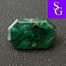 """Natural Rare Unoiled Faceted Emerald 0.89 ct  """"Stunning_Gemstones"""""""