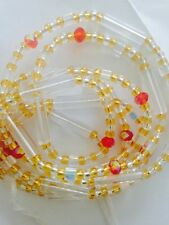 """2 African Mixed Single Waist Beads, Multicoloured 46"""" New FREE P&P"""
