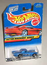 Hot Wheels 1998 #685 Tattoo Machines 1 of 4 '57 T-Bird Mtflk Blue White 18767