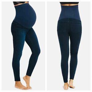 NWT Spanx Shape Mama Ankle Jean-ish Leggings Twilight Rinse Maternity Size Small