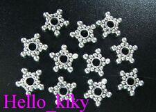 300 Pcs Tibetan silver beaded star spacer beads A326