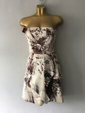 BNWT Karen Millen floral pattern silk dress size UK 8