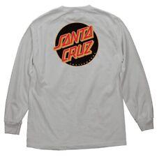 Santa Cruz Other Dot Long Sleeve Skateboard Shirt Silver w/Black Dot Xl