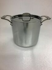 All-Clad D5 Polished 7-Qt. Stock Pot with All-clad standard Lid. Factory Second