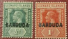 Sellos de Barbuda 1922, Rey George V