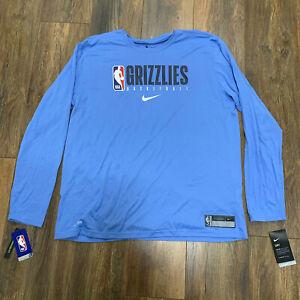 Men's Nike NBA Memphis Grizzlies Team Issued Practice Warm-Up DriFit T-Shirt 2XL