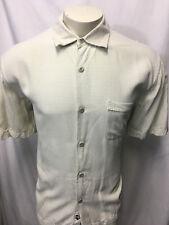 Nat Nast Luxury Originals Men's Short Sleeve sz M Shirt Silk Cotton Yellow