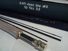 "ON SALE!! 8'4"" 3 weight four piece Fly Fishing  Rod VERY IMPRESSIVE CAST FOR 3WT"
