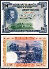 100 Pesetas 1925  FELIPE II   EBC / SPAIN ESPAGNE PICK 69c  XF